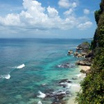 Looking down the point at Uluwatu.